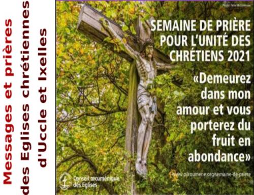 Semaine de prière pour l'unité des chrétiens: du 18 au 25 janvier 2021